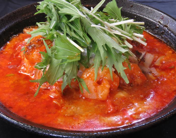 【ごちそう担々麺】海老チリチーズの担々麺